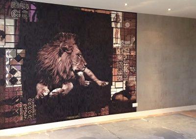 wandbekleding-leeuw